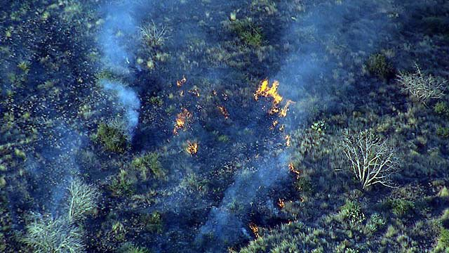 The fire is burning north and east of the Bronco Trailhead. (Source: KPHO/KTVK)