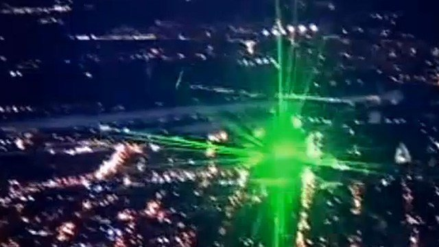 'Lasers, when pointed at an aircraft, can illuminate an entire flight deck and blind pilots and crew,' police said. (Source: KPHO/KTVK)