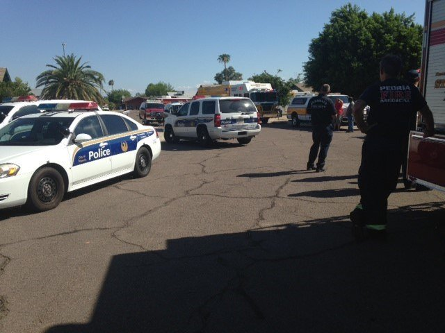 His cries forhelp were finally heard 2 hours later. (Source: Phoenix Fire Department)
