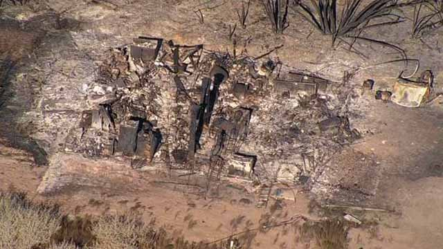 One of the structures that burned to the ground in the Willow Fiore. (Source: KPHO/KTVK)