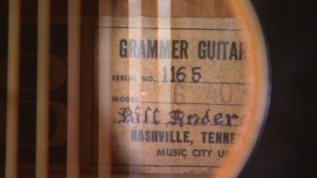 Mike Grauer looked inside the guitar and saw the name Bill Anderson. (Source: KPHO/KTVK)