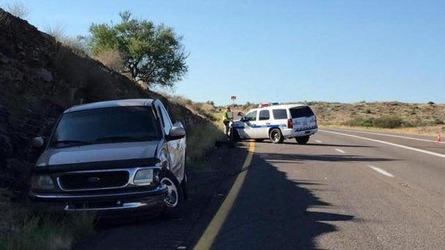 Crash scene on I-17 south of Codes Junction. (Source: Arizona Dept. of Public Safety)