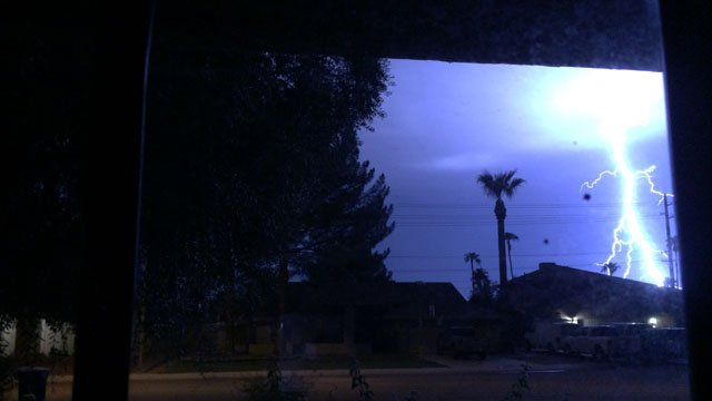 One viewer captured this amazing lightning bolt in Tempe.(Source: Viewer-submitted)