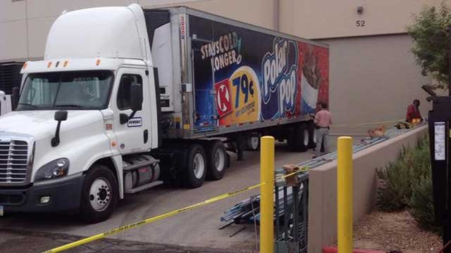 Troopers and detectives conduct an investigation into a projectile hitting a commercial vehicle. (Source: DPS)
