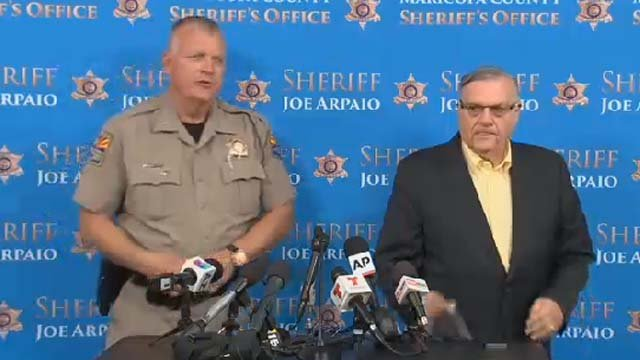 DPS Director Col. Frank Milstead & Sheriff Joe Arpaio. (Source: KPHO/KTVK)
