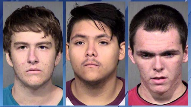 Aaron Nottingham (left), Albert Elijah German (middle) and Christian Cook (right) (Source: Maricopa County Sheriff's Office)