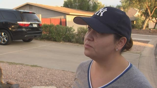 """""""My son has never hurt anyone; he's not that kind of person,"""" said Michele German, the mother of one of the """"copycat"""" suspects. (Source: KPHO/KTVK)"""