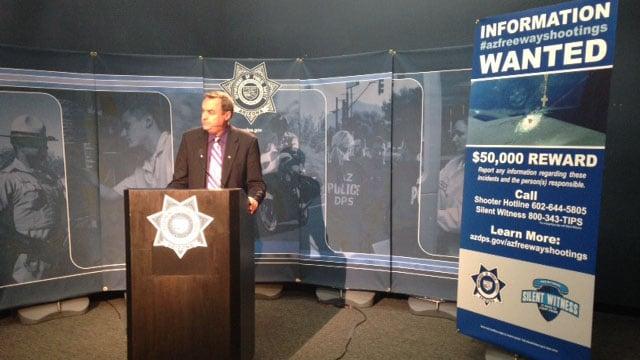DPS spokesman Bart Graves at Saturday's news briefing. (Source: KPHO/KTVK)