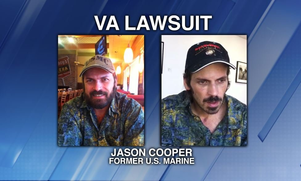 Former U.S. Marine Jason Cooper, before and after, being hit by a car (Source: Gregory Patton, Cooper's attorney)