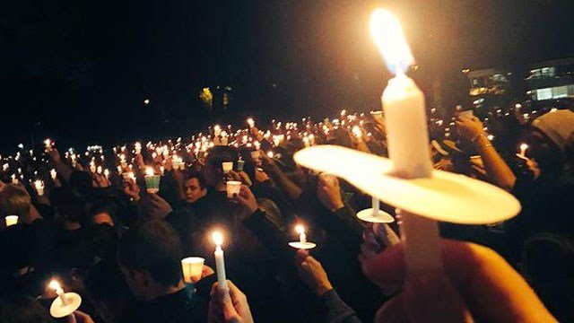The NAU campus held a candlelight vigil Friday night. (Source: KPHO./KTVK)