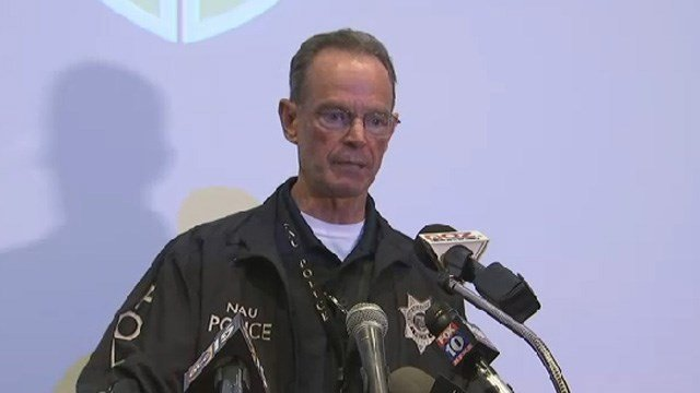NAU Police Chief Greg Fowler at a news briefing the day of the shooting. (Source: KPHO/KTVK)