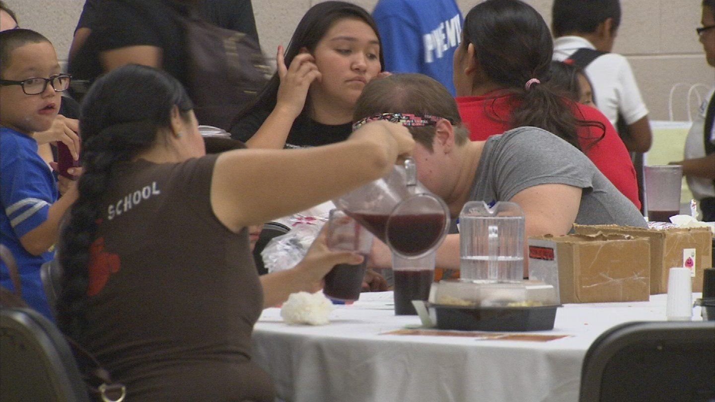 Less Fortunate Valley Families Enjoy 3 Course Meal