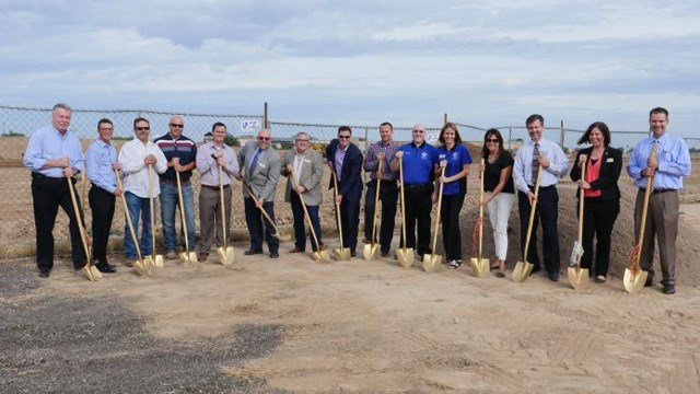 The  groundbreaking ceremony for The QC District happened in August. (Source: QueenCreek.org)