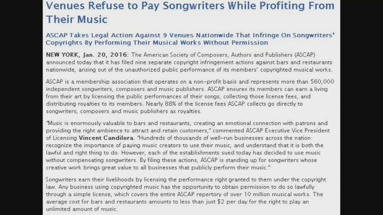 (Source: ASCAP)