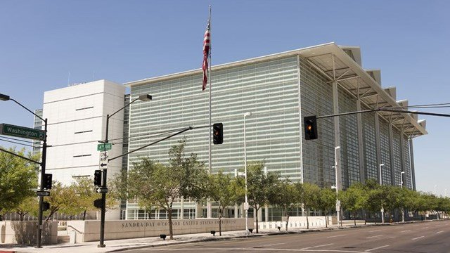 Sandra Day O'Connor United States Courthouse in Phoenix is home to the United States District Court for the District of Arizona. (Source: Derrick Neill via 123 RF)