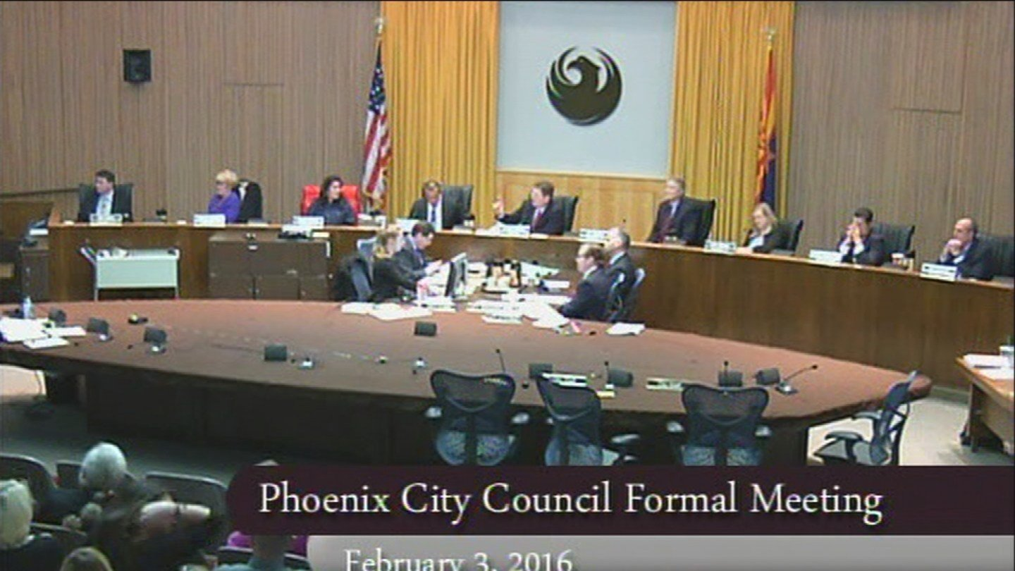 Phoenix City Council meeting on Feb. 3, 2016 (Source: City of Phoenix)