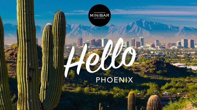 Phoenix is Minibar's newest city. (Source: Minibar via Facebook.)