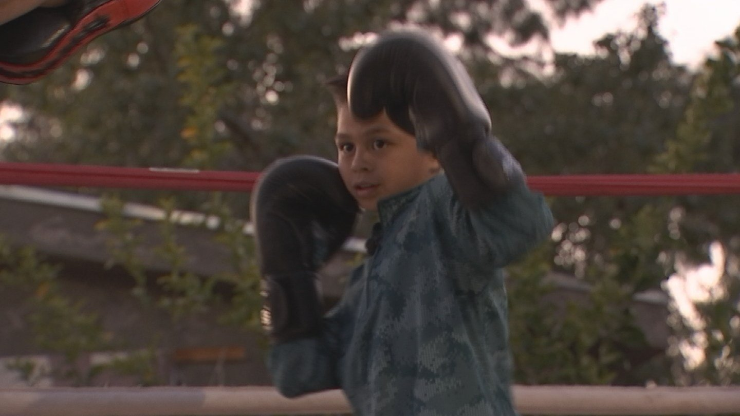 Ray Maldonado, 10, not only loves boxing, he good at it. Champion good. (Source: KPHO/KTVK)