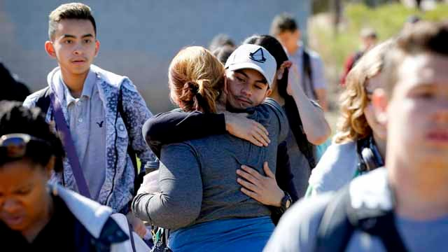 There was an outpouring of raw emotion as parents reunited with their children. (ISource: AP Photo/Matt York)