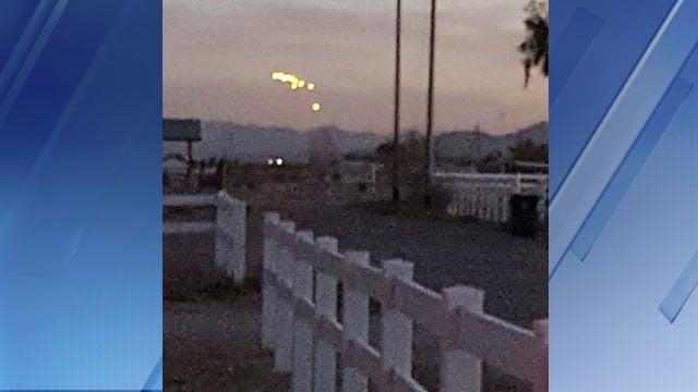 Mysterious lights over Buckeye (Photo source: Viewer photo)