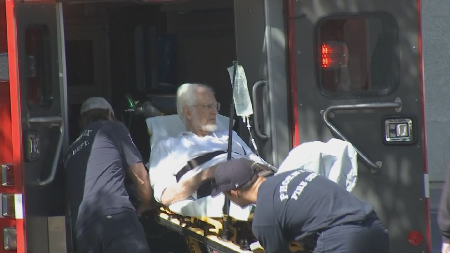 The judge is loaded into an ambulance. (Source: KPHO/KTVK)