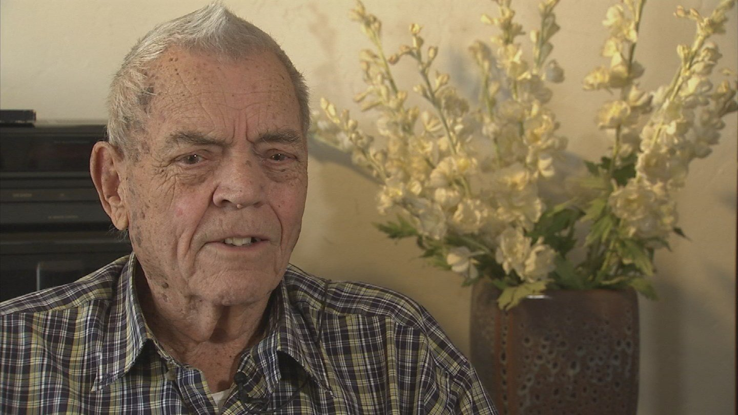 WWII Army veteran Glenn Diller said he waited nearly 12 hours in the ER at the Phoenix  VA to see a doctor. It never happened. (Source: KPHO/KTVK