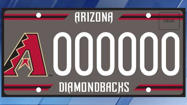 Adot Updates D Backs Specialty License Plate 3tv Cbs 5