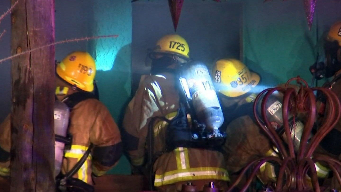 Firefighters Attack A Fire At El Toro Loco Furniture Store In Cave Creek.  (Source