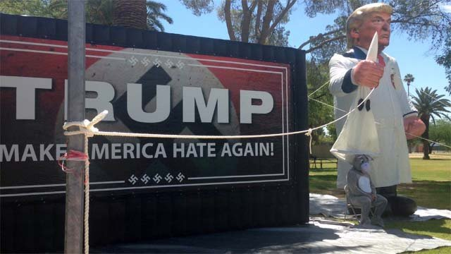 Protest by 'Somos America' peaceful ahead of Trump rally ...