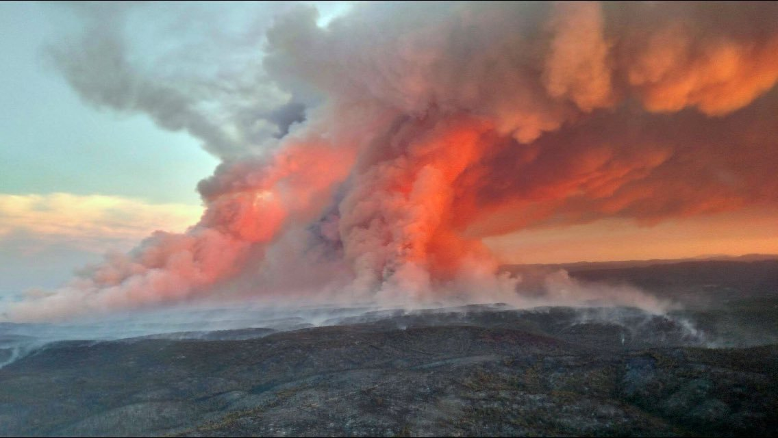 This is picture of Cedar Fire near Show Low. (Source: Peoria Fire-Medical)