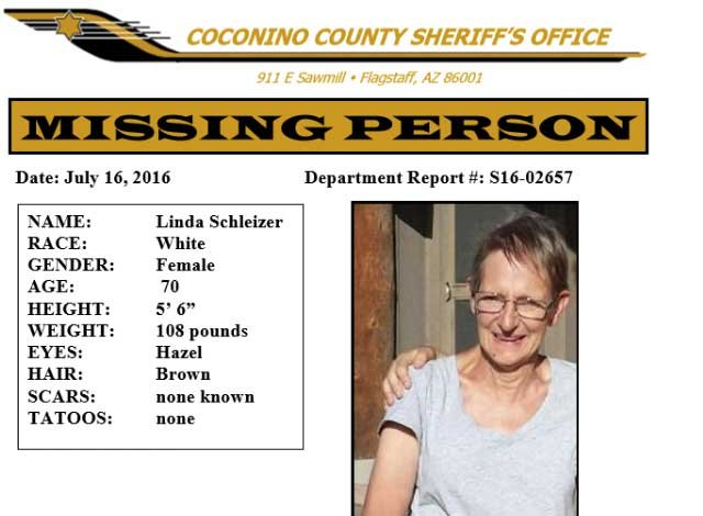 missing woman with alzheimer s found dead in ashfork wash