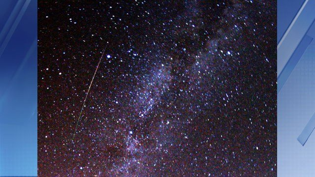 Meteor Streaks Around Arizona Sky