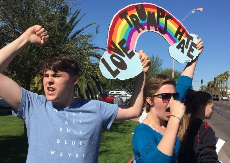 Students across Valley stage more protests against Trump ...