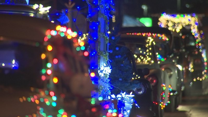 hundreds came out for the christmas lights parade in guadalupe source kpho