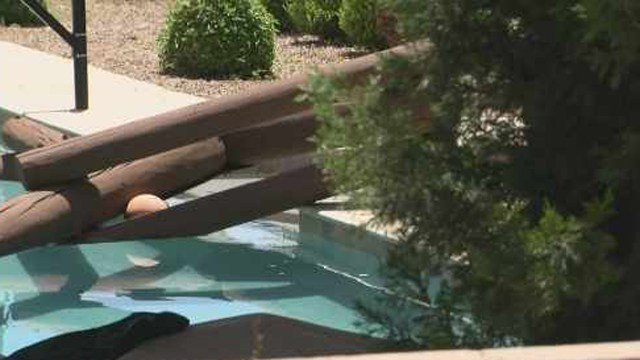 Backyard Swimming Pool Deaths :  to allow people to jump off a rope into the pool (Source KPHOKTVK