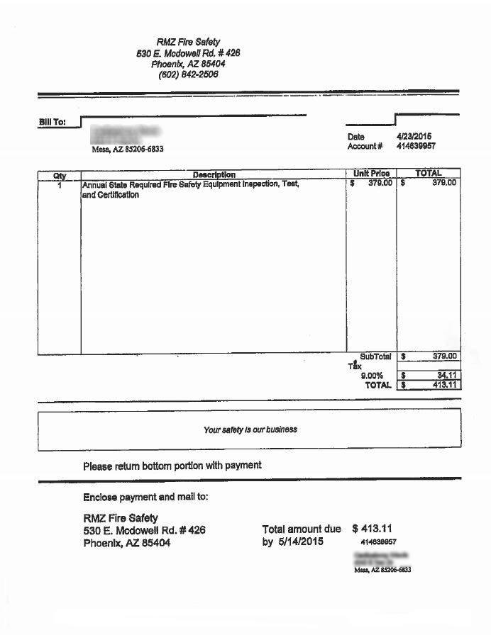 officials warn of scam involving bogus fire inspection invoices