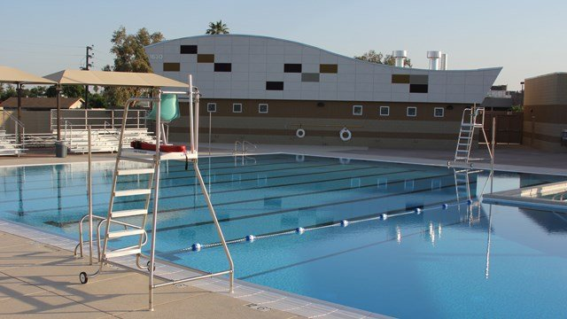 City of mesa opens newest pool myrtle for Pool show florence sc