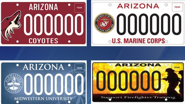 4 New Az Specialty License Plates Unveiled 3tv Cbs 5