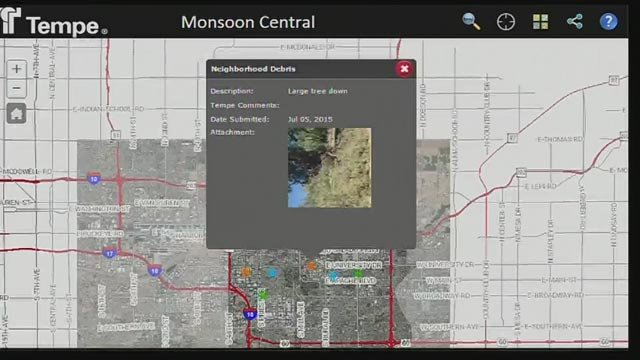 Tempe rolls out new monsoon map tool Arizonas Family