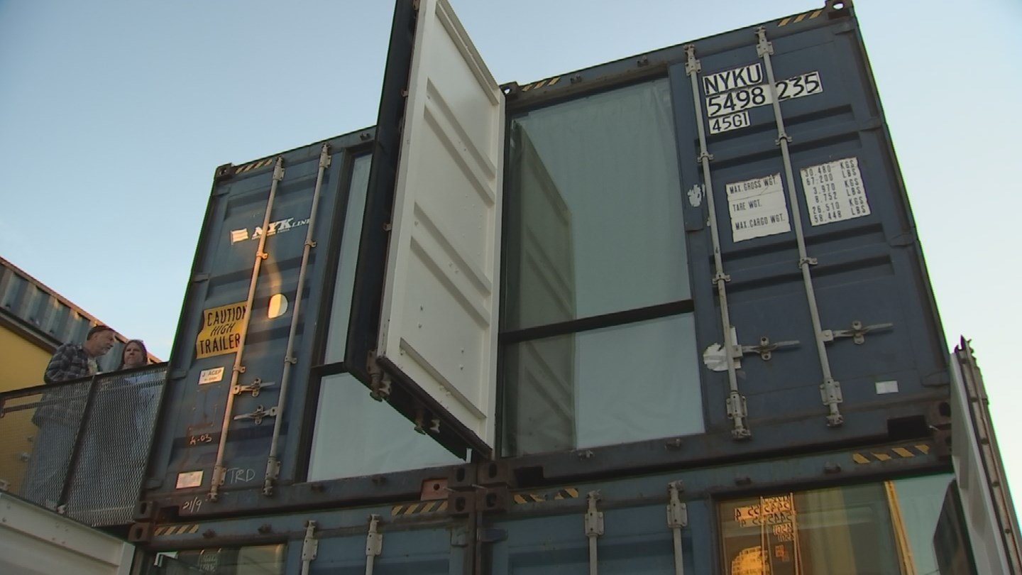 apartments made from shipping containers ready for residents in