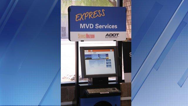 Adot adds more servicearizona kiosks around the state for Az dept transportation motor vehicle division