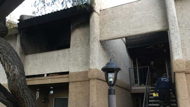 Electric grill causes Phoenix apartment fire - Arizona\'s Family